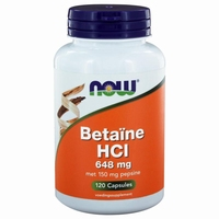 NOW Betaine HCL 648mg 120cap