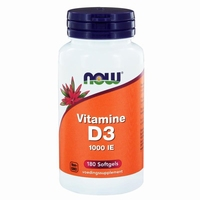 NOW Vitamine D3 1000IE 180softgels