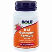 NOW Vitamine B12 geheugenformule 5000 mcg 60zuigtabl