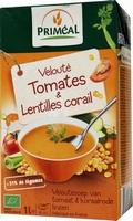 Primeal Veloutesoep van tomaal en rode linzen BIO 1ltr