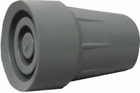 Able2 Rubberdop voor kruk of wandelstok 21mm grijs