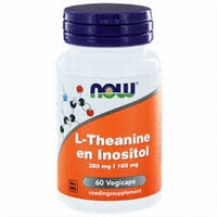 NOWL-Theanine 200 mg met Inositol 100 mg 60vcaps
