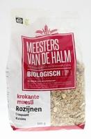 De Halm krokante Muesli rozijnen BIO 600g