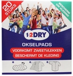 1-2Dry okselpads wit medium 20st