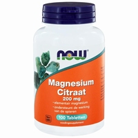 NOW Magnesium citrate 200mg 100tab