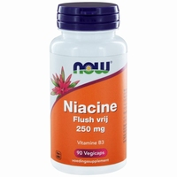 NOW Niacine flush vrij 250mg 90cap