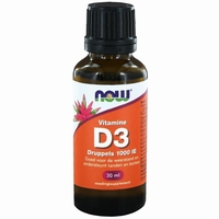 NOW Vitamine D3 druppels 1000ie 30ml