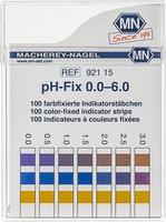 Indicatorstaafjes pH 0-6,0 indicatie 0,5