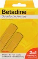 Betadine plastic jodiumpleisters 20st 2x7cm