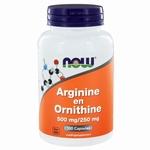 NOW Arginine & ornithine 500/250 100cap