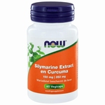NOW Silymarine extract 150mg en curcuma 350 mg 60vc