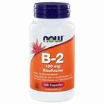 NOW Vitamine   B2 100mg 100cap