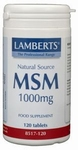 Lamberts MSM 1000 mg 120tab