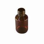 medicijnfles PET bruin ongedopt mond 28mm