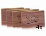 Cederhout ladenblokjes 2st